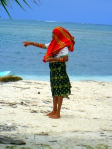 indigena Kuna delle isole San Blas a Panama
