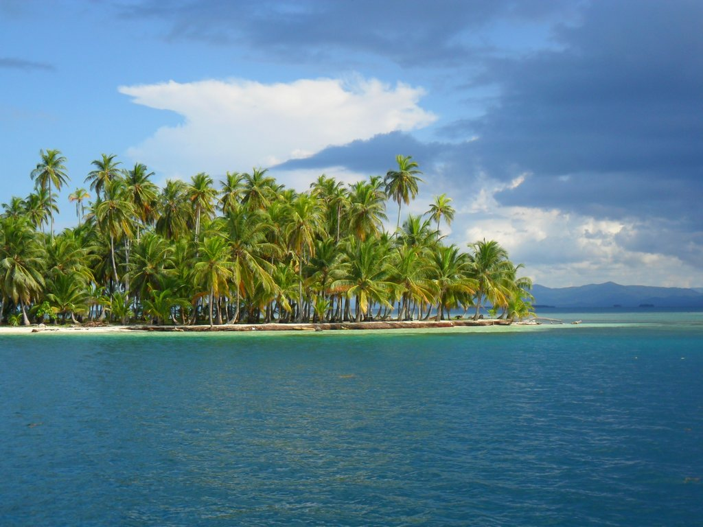 Un meraviglioso isolotto dell'arcipelago San Blas a Panama