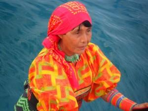 Indigena Kuna isole San Blas Panama